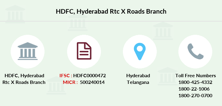 Hdfc-bank Hyderabad-rtc-x-roads branch