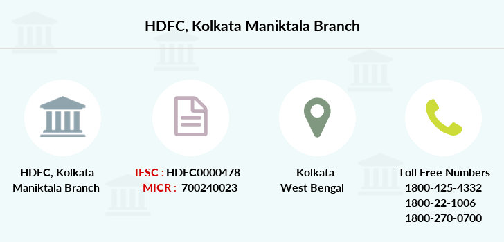 Hdfc-bank Kolkata-maniktala branch