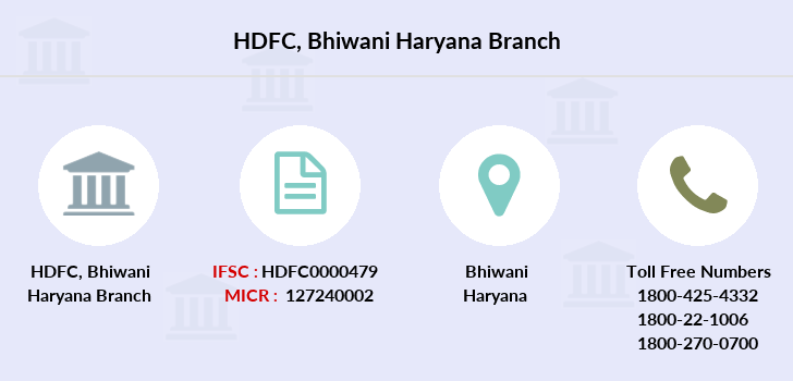 Hdfc-bank Bhiwani-haryana branch
