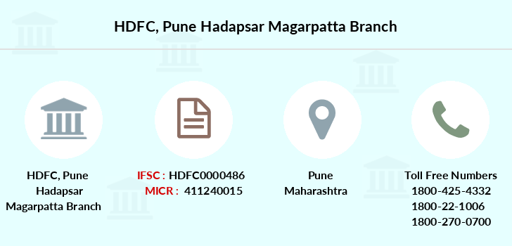 Hdfc-bank Pune-hadapsar-magarpatta branch