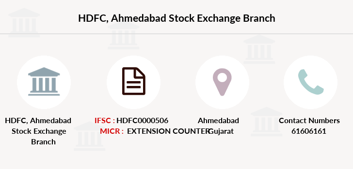 Hdfc-bank Ahmedabad-stock-exchange branch