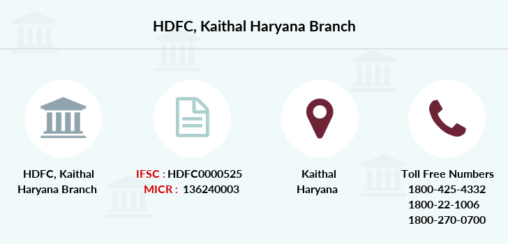 Hdfc-bank Kaithal-haryana branch