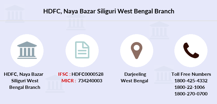 Hdfc-bank Naya-bazar-siliguri-west-bengal branch