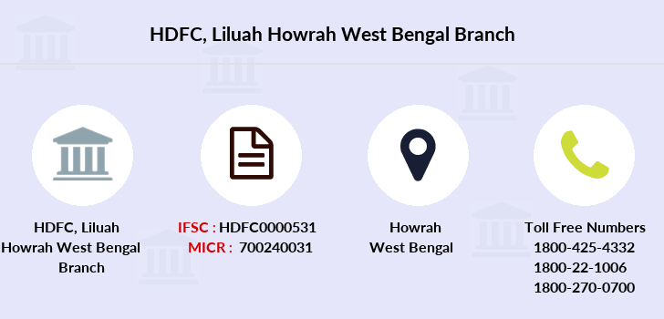 Hdfc-bank Liluah-howrah-west-bengal branch