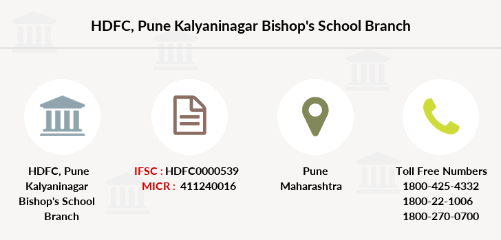Hdfc-bank Pune-kalyaninagar-bishop-s-school branch