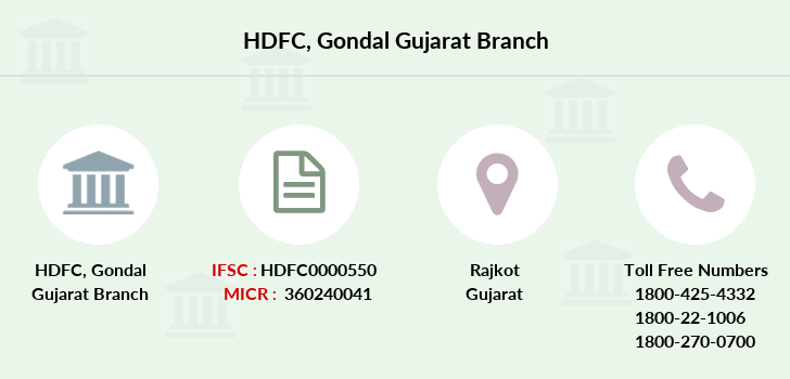 Hdfc-bank Gondal-gujarat branch