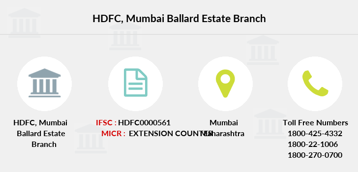 Hdfc-bank Mumbai-ballard-estate branch