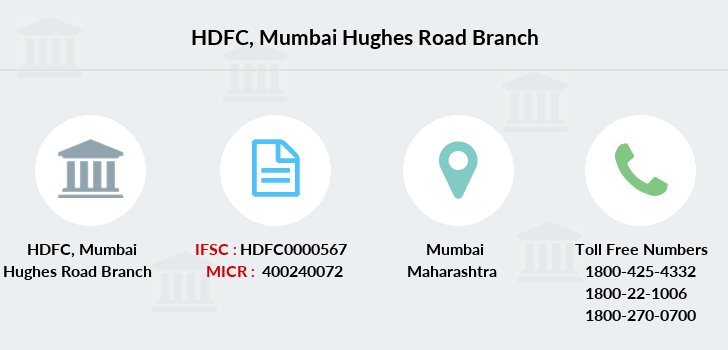 Hdfc-bank Mumbai-hughes-road branch