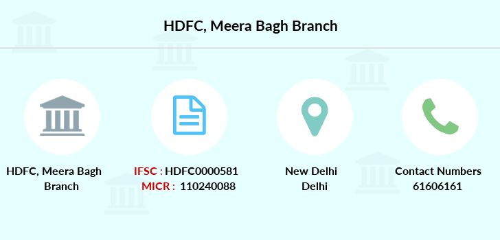 Hdfc-bank Meera-bagh branch