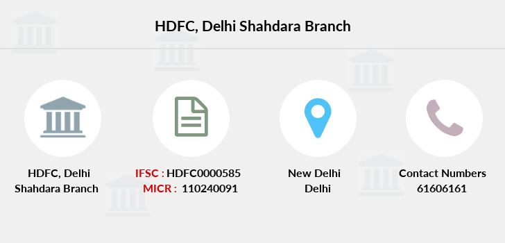 Hdfc-bank Delhi-shahdara branch