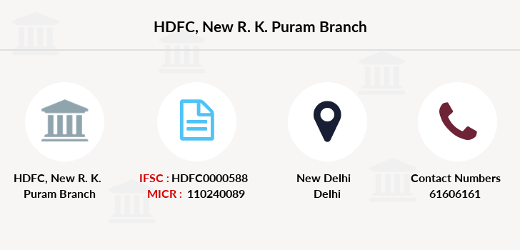 Hdfc-bank New-r-k-puram branch