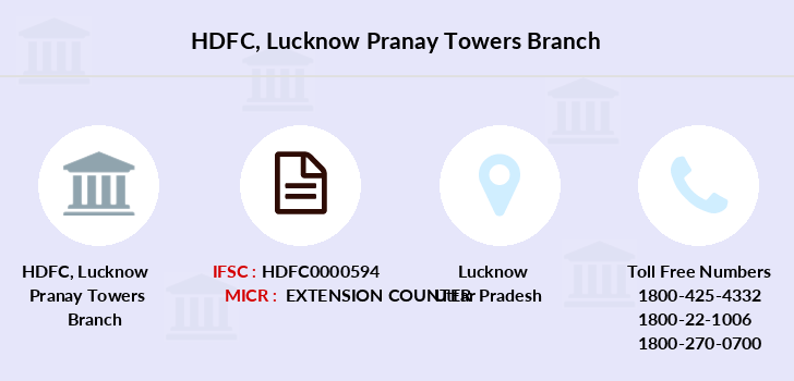 Hdfc-bank Lucknow-pranay-towers branch