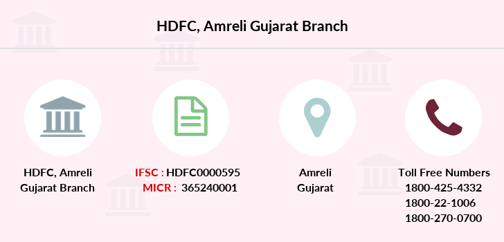 Hdfc-bank Amreli-gujarat branch