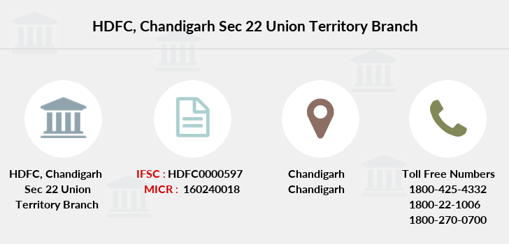 Hdfc-bank Chandigarh-sec-22-union-territory branch