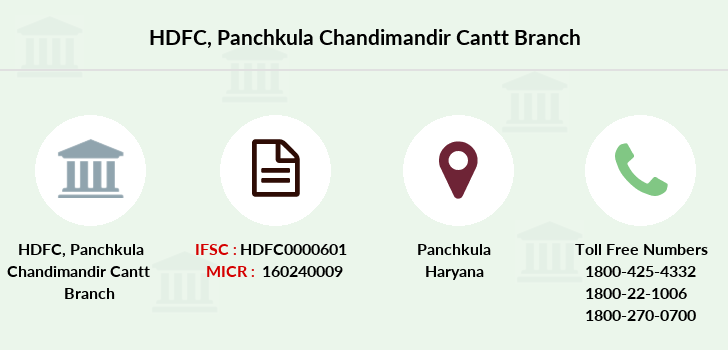 Hdfc-bank Panchkula-chandimandir-cantt branch