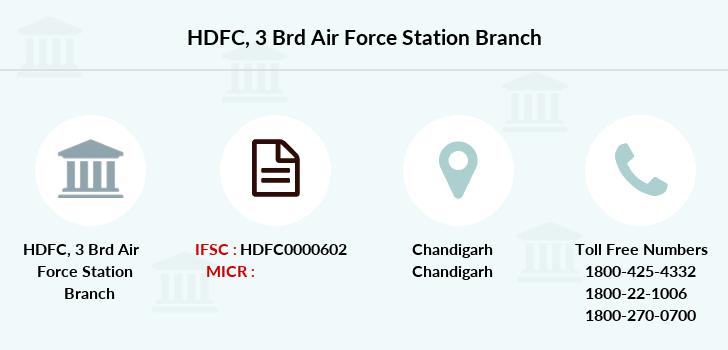 Hdfc-bank 3-brd-air-force-station branch