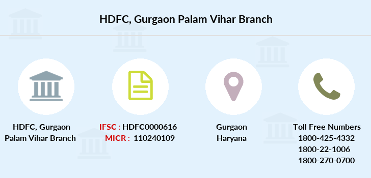Hdfc-bank Gurgaon-palam-vihar branch