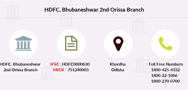 Hdfc-bank Bhubaneshwar-2nd-orissa branch