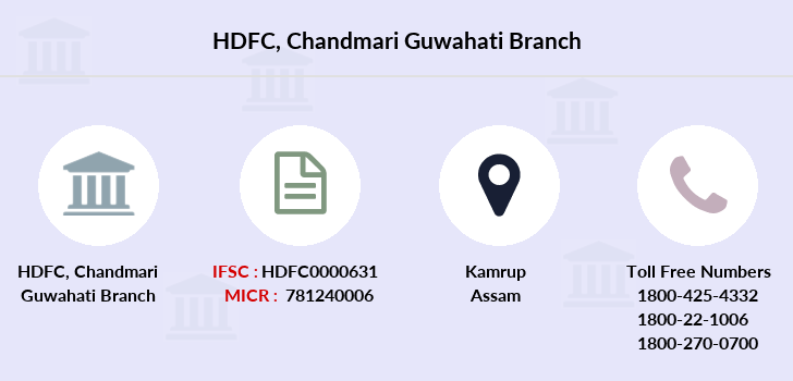Hdfc-bank Chandmari-guwahati branch