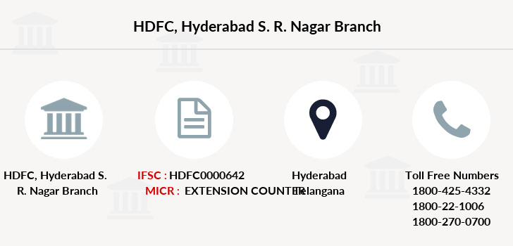 Hdfc-bank Hyderabad-s-r-nagar branch