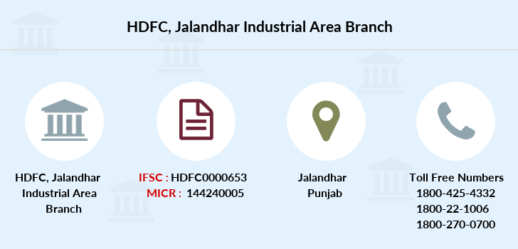 Hdfc-bank Jalandhar-industrial-area branch