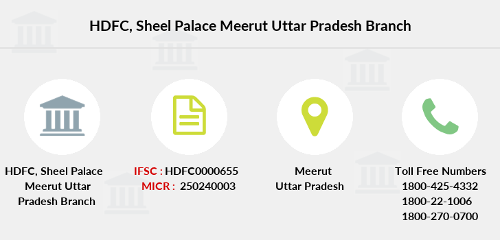 Hdfc-bank Sheel-palace-meerut-uttar-pradesh branch