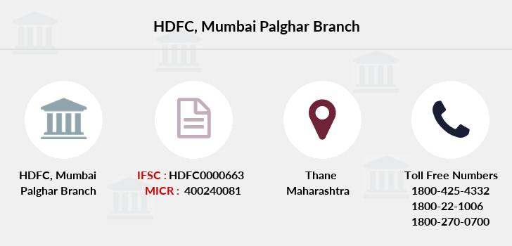 Hdfc-bank Mumbai-palghar branch