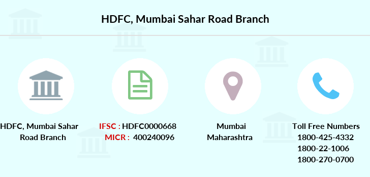 Hdfc-bank Mumbai-sahar-road branch