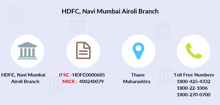 Hdfc-bank Navi-mumbai-airoli branch