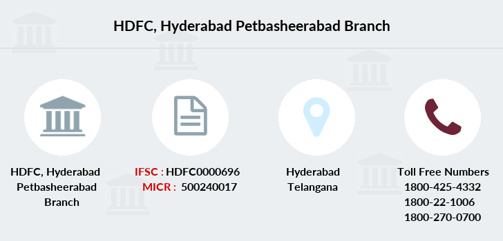Hdfc-bank Hyderabad-petbasheerabad branch