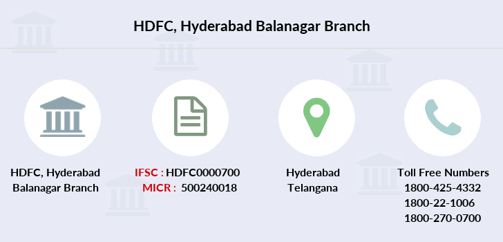 Hdfc-bank Hyderabad-balanagar branch