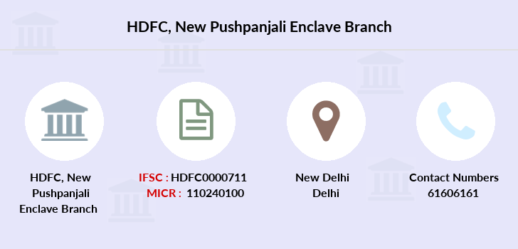 Hdfc-bank New-pushpanjali-enclave branch