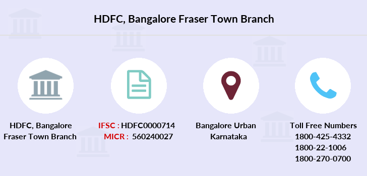 Hdfc-bank Bangalore-fraser-town branch