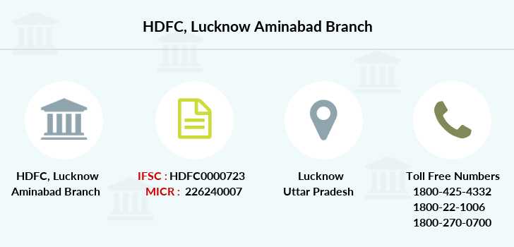 Hdfc-bank Lucknow-aminabad branch