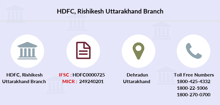 Hdfc-bank Rishikesh-uttarakhand branch