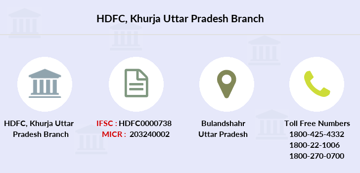 Hdfc-bank Khurja-uttar-pradesh branch
