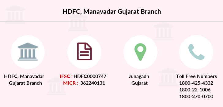 Hdfc-bank Manavadar-gujarat branch