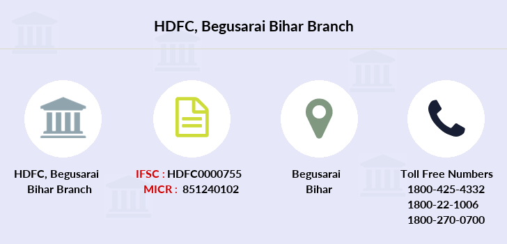 Hdfc-bank Begusarai-bihar branch