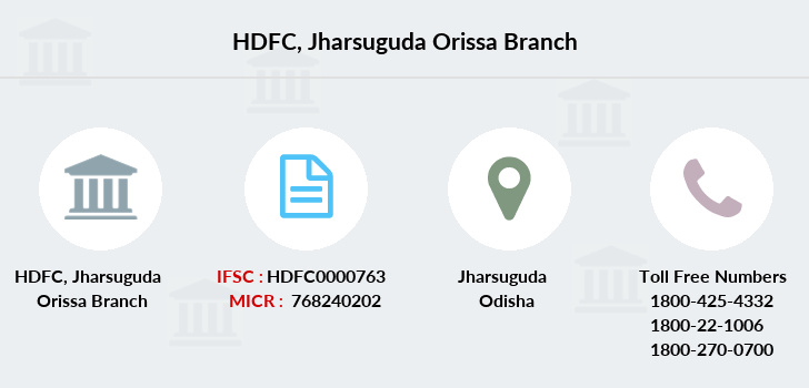 Hdfc-bank Jharsuguda-orissa branch