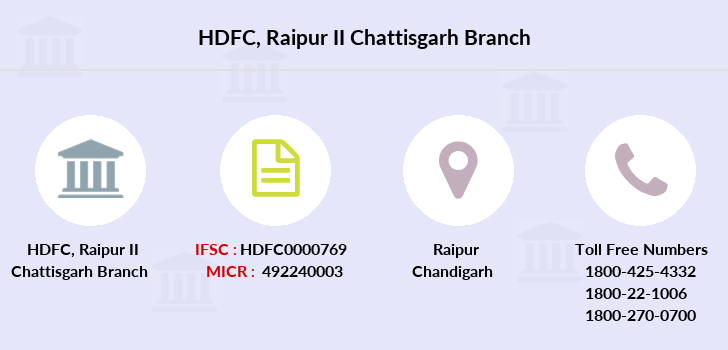 Hdfc-bank Raipur-ii-chattisgarh branch