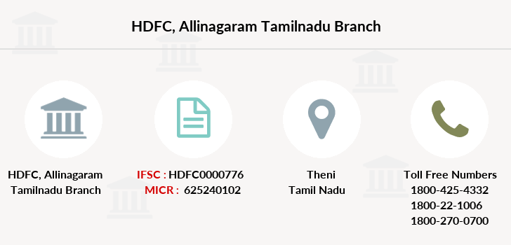 Hdfc-bank Allinagaram-tamilnadu branch