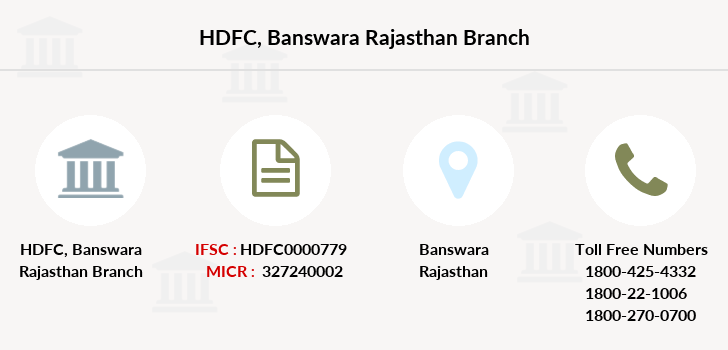 Hdfc-bank Banswara-rajasthan branch