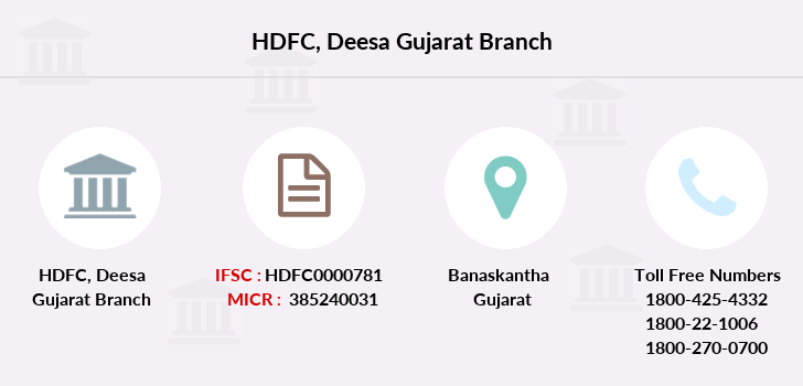 Hdfc-bank Deesa-gujarat branch