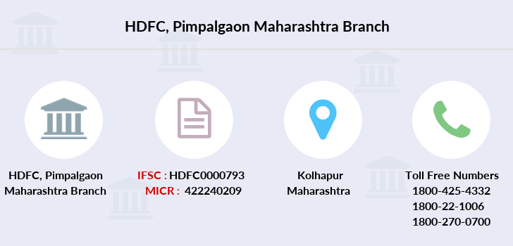 Hdfc-bank Pimpalgaon-maharashtra branch