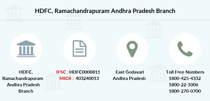 Hdfc-bank Ramachandrapuram-andhra-pradesh branch
