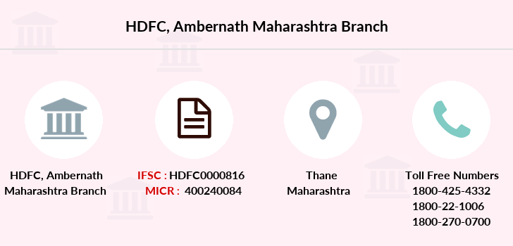 Hdfc-bank Ambernath branch
