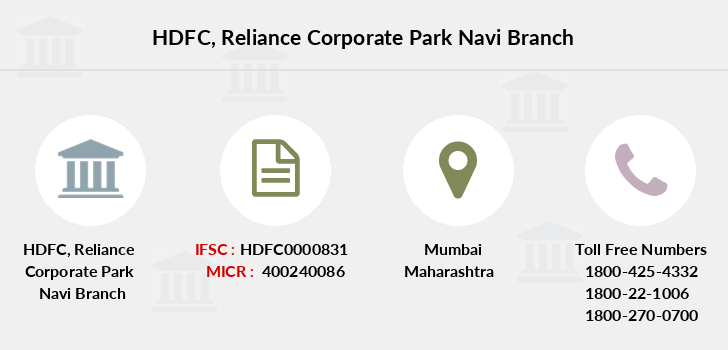 Hdfc-bank Reliance-corporate-park-navi branch