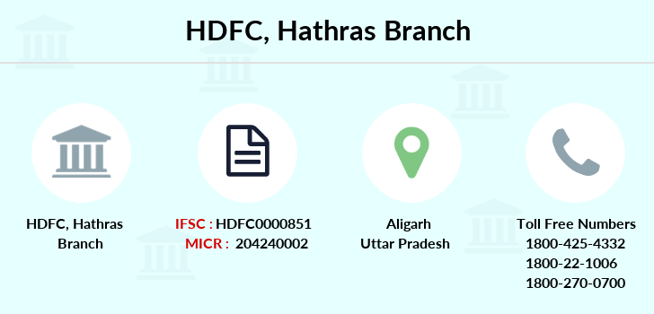 Hdfc-bank Hathras branch