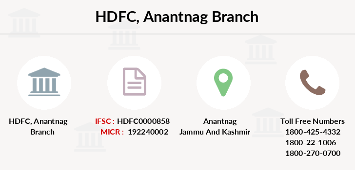 Hdfc-bank Anantnag branch