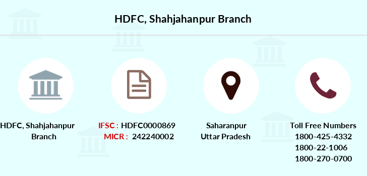 Hdfc-bank Shahjahanpur branch